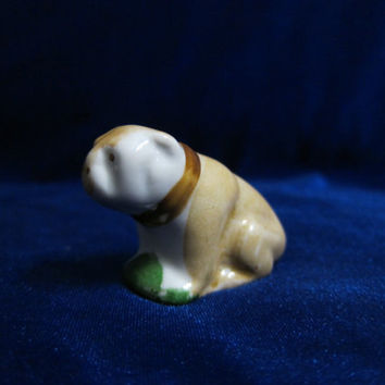 Vintage USSR Porcelain Figurine Soviet Russian porcelain ceramic animal Dog soviet  ukrainian