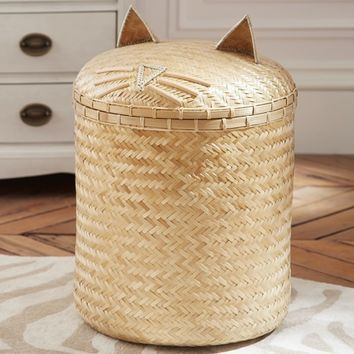 Emily & Meritt Cat Hamper | Pottery Barn Kids