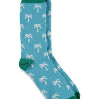 Colorblocked Palm Tree Socks