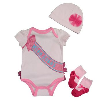 New Baby Summer Clothing Sets  Newborn Boy Girl Clothes Set Cotton Long Sleeves Babywear Hat+Bodysuit+Socks Infant Outfit