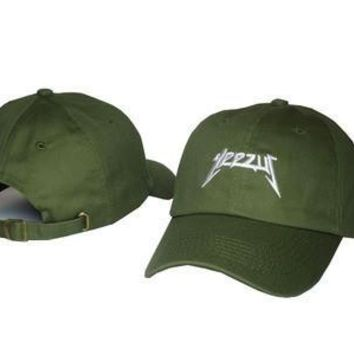 Black White Orange Rose Denim Green Gray Khaki Brand Yeezus Print Baseball Cap Hip Hop
