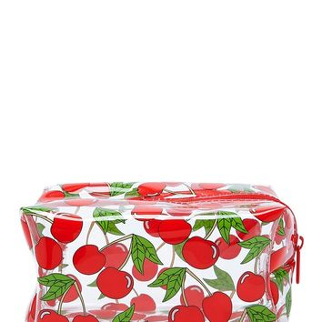 Cherry Print Makeup Bag