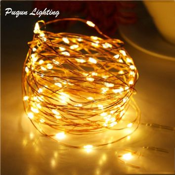 Battery Powered Led String Fairy Light Garland christmas lights Wedding Party Home Indoor Outdoor Decoration Lights 2M 3M 5M 10M