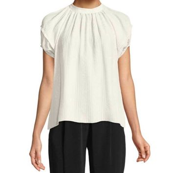 Co Collection Cloque Sleeve Top