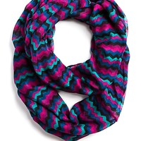 Magenta/Teal Chevron Infinity Scarf
