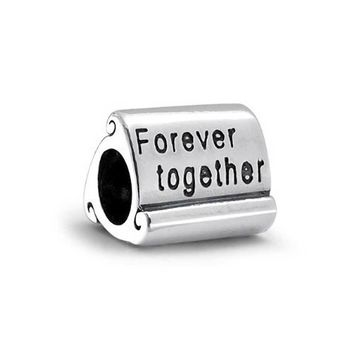 ever Together Love Family Couples Charm Bead Sterling Silver Bracelet