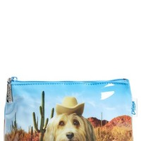 Catseye London 'Small Cactus Selfie Dog' Cosmetics Case - Cactus Brown