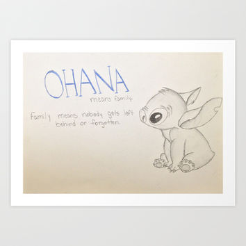 Lilo and Stitch Art Print by Elyse Notarianni