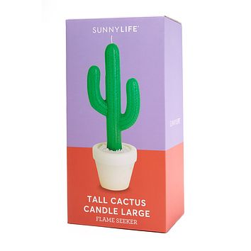 Tall Cactus Candle Large