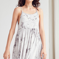 Ecote Tie-Dyed Babydoll Mini Dress | Urban Outfitters