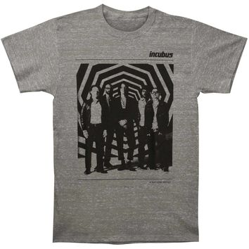 Incubus Men's  Zone Tour Slim Fit T-shirt Ash Rockabilia