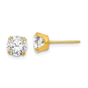 Inverness Piercing 24k Gold Plated CZ Earrings