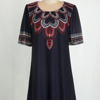 Boho Short Sleeves Tent Creative Direction Dress