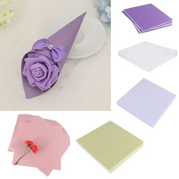 Wedding 50pcs Blank Paper DIY Wedding Party Cone Wrap Boxes Craft Decor Candy Packing Boxes Invitations Thank you Cards Craft