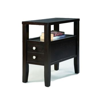 Amiable Chairside Table, Dark Espresso By Crown Mark