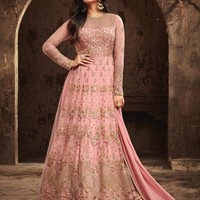 Sonal Chauhan Net Embroidered Lehenga Style Suit