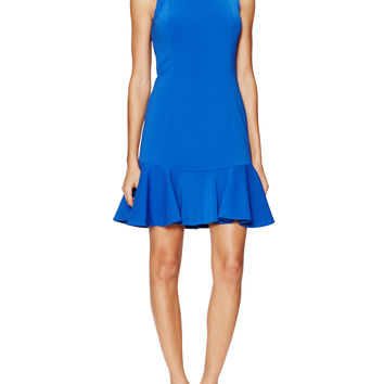 Jay Godfrey Women's San Marino Flounce Hem Dress - Bright Blue -