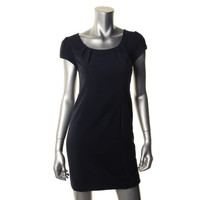 AGB Womens Petites A-Line Cap Sleeves Wear to Work Dress