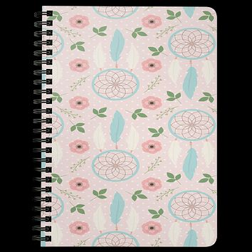 BoHo Journal Daily Notebook Diary Spiraled Lined Custom Writing Book Daybook Journal