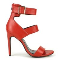 Fahrenheit Lenka-01 High Heel Sandal in Red @ ippolitan.com