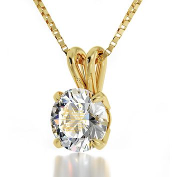 """Diamond Sutra"", 14k Gold Necklace, Swarovski"