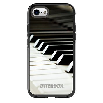DistinctInk™ OtterBox Symmetry Series Case for Apple iPhone / Samsung Galaxy / Google Pixel - Piano Keys Keyboard