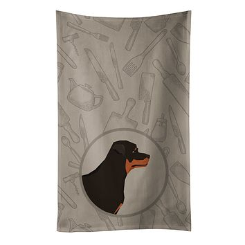 Rottweiler In the Kitchen Kitchen Towel CK2205KTWL