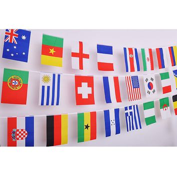 Jetlifee 100 Countries String Flag, International Bunting Pennant Banner, World Flags Pennants Banners Decoration for Grand Opening, Sports Bar, Party Events