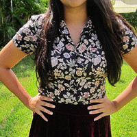 Flora short sleeved blouse