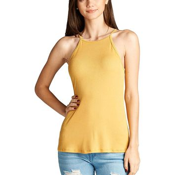 Square neckline tank top
