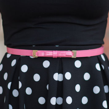Dainty Bow Belt - Pink