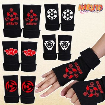 Naruto Sasauke ninja Anime  Hatake Kakashi Gloves Anime Sharingan Mittens cosplay Costumes Toy Accessories AT_81_8