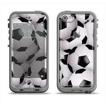 The Soccer Ball Overlay Apple iPhone 5c LifeProof Fre Case Skin Set