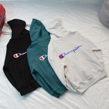 Champion Back Embroidery Logo Sweatshirt