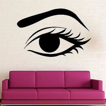 Wall Stickers Vinyl Decal Female Woman Eye Make Up Hot Sexy Decor  Unique Gift z588