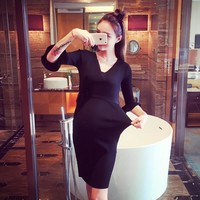 Spring Winter maternity clothes nursing clothing dress Breastfeeding Dress for Pregnant Women