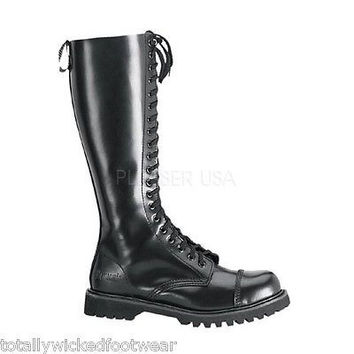 Shop Leather Combat Boots on Wanelo