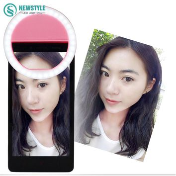 Mini selfie ring Led Night Light Portable Flash Led Camera Phone Photography Enhancing Photography with AAA Batteries