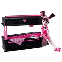 Amazing Monster High Draculaura Doll and Jewelry Box Coffin Set by Mattel