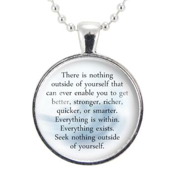Motivational Buddhist Quote Necklace