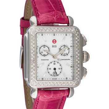 Michele Deco Diamond Chronograph Watch