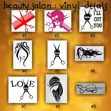 Shop Hair Stylist Stickers On Wanelo - Hair stylist custom vinyl decals for car
