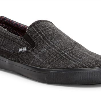 Ben Sherman Percy Black Plaid Slip-on Men's Shoes