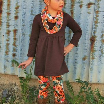 FALL FLORAL 3PC SCARF SET