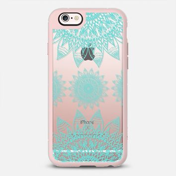 FESTIVAL FEATHER MANDALA IN PASTEL MINT iPhone 6s case by Nika Martinez | Casetify