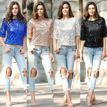 Women's Fashion Tops Summer T-shirts [10016917197]