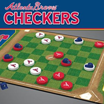 MasterPieces MLB Atlanta Braves Checkers Board Game