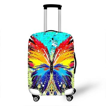 eTya New luggage cover Travel protective suitcase Fresh Elastic Stretch Waterproof Dust Proof Rain Cover Suit for 18-28inch