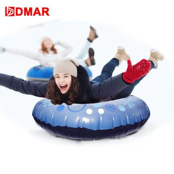 DMAR Skiing Snow Tube Skiing Sled Inflatable Snow Sled With Rapid Valves - Heavy Duty For Adults Kid Slippery Grass Sand  Float