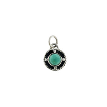Kamon Sterling Silver And Turquoise December Charm